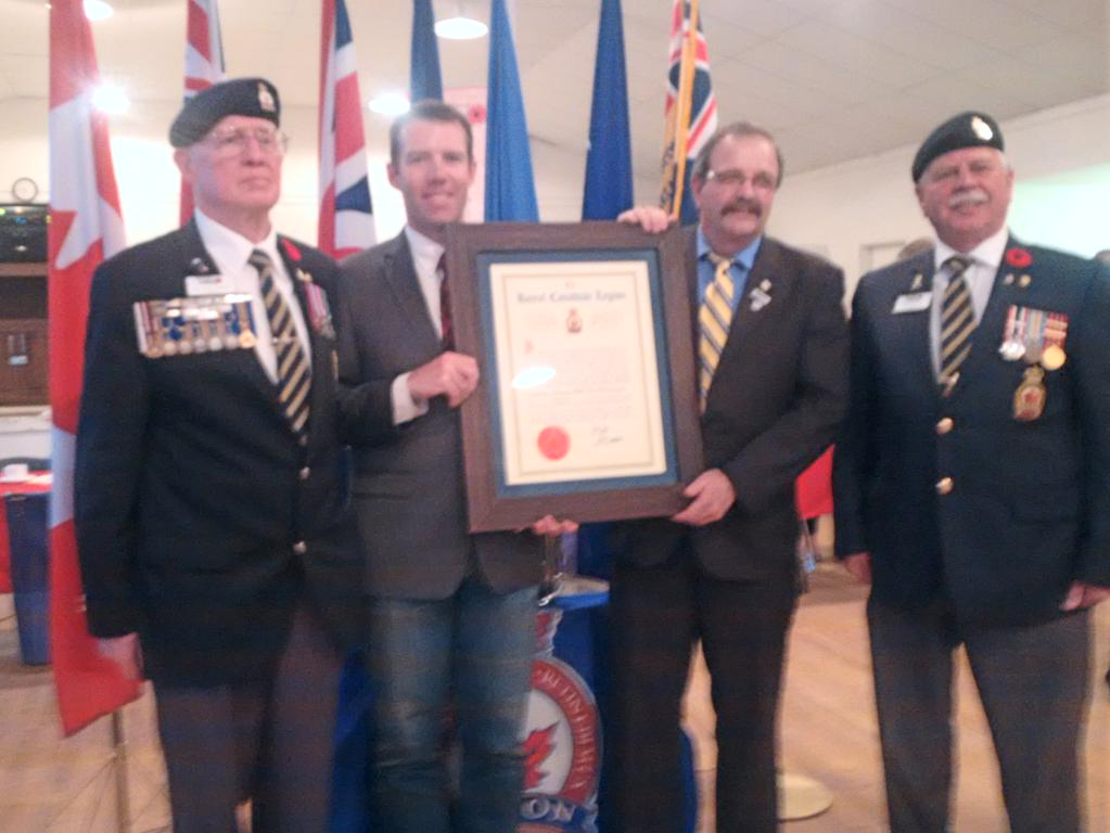 15.05.23 Okotoks Legion receives Charter